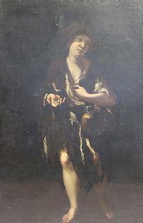 17th CENTURY. Oil on Canvas. Full Length Portrait