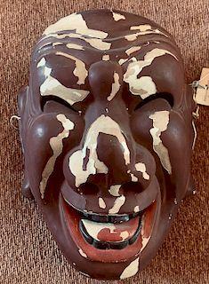 Bugaku Mask, Emimen, c. 1760