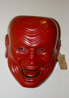 Bugaku mask, Kotokaraku Heishitori, c. 1760
