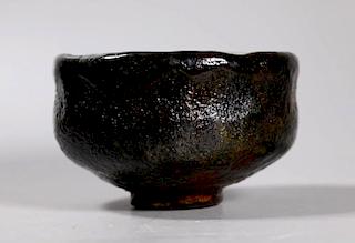Black Raku Chawan, Edo Period or Earlier