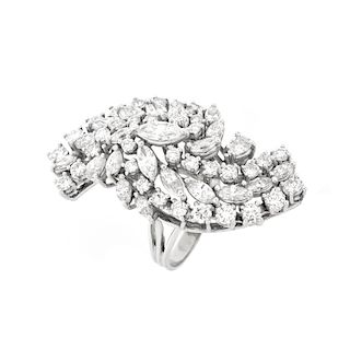 Vintage Diamond and 14K Dinner Ring
