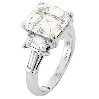 6.44ct TW Diamond and Platinum Ring