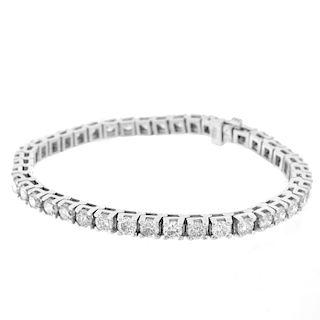 Diamond and 14K Tennis Bracelet