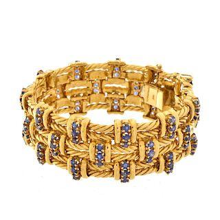 Tiffany & Co 18K and Sapphire Bracelet