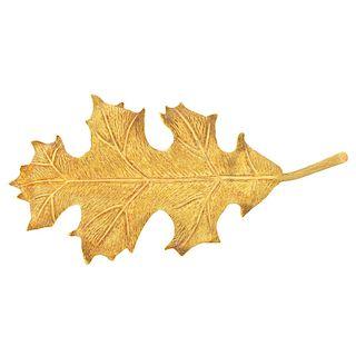 Tiffany & Co 18K Leaf Brooch