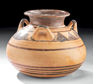 Late Mycenaean Pottery Three Handled Pyxis w/ TL