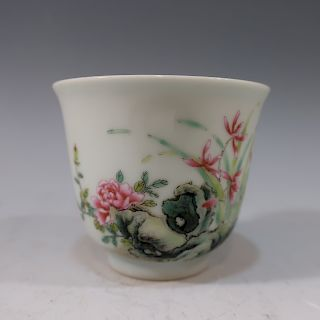 IMPERIAL CHINESE FAMILLE ROSE CUP - XUANTONG MARK AN PERIOD