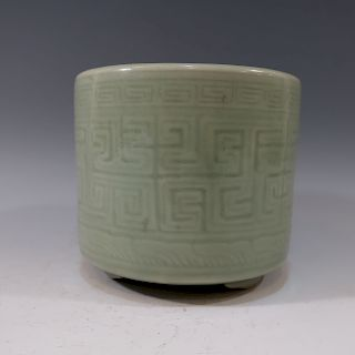 CHINESE ANTIQUE LONGQUAN TRIPOD CENSOR - MING DYNASTY