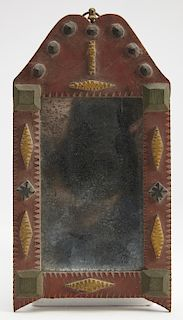 Small Polychrome Painted Tramp Art Frame