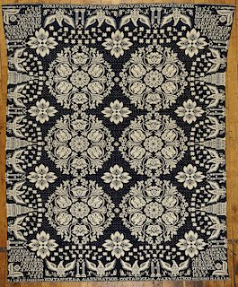 Masonic Jacquard Coverlet with Eagles -1827