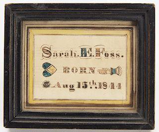 Heart in Hand Watercolor Sarah Foss 1844
