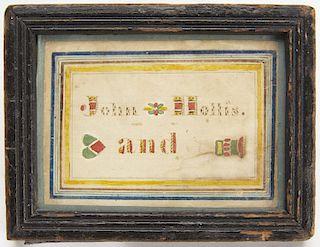 Heart in Hand Watercolor by John Hollis 1840