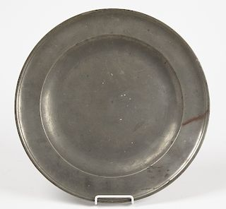 Early Henry Will Pewter Charger - New York