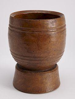 Early American Burl Mortar