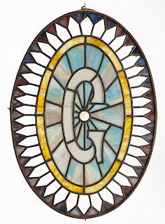 """Leaded Glass Fraternal """"Eye of God"""""""