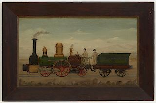 Folk Art Train Painting -1840