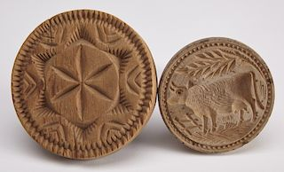 Early Cow & Hex Butter Prints