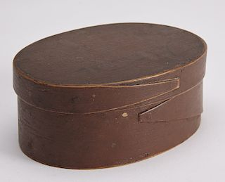 Painted Oval Shaker Box - Nutmeg