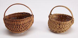 Two Fine Miniature Melon Baskets