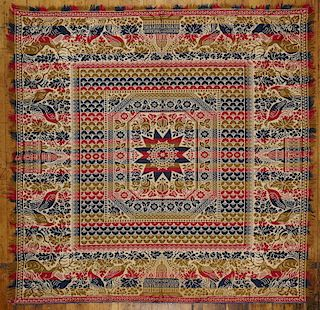 Woven Coverlet with Capitol Building