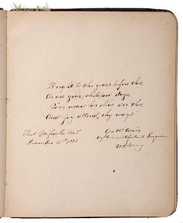 Montana Military Autograph Albums from the Western Frontier, Identified to Col. William Gerlach's Daughter, Ca 1880s