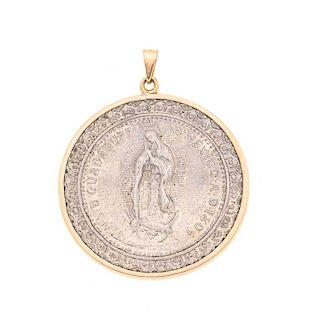 Medalla en plata .925 con imagen de la Vírgen de Guadalupe. Peso: 12.7 g.