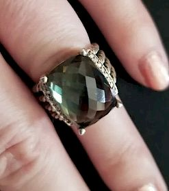 David Yurman Wheaton Prasiolite Diamond Ring Sz 6