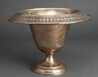 Sterling Silver Pierced Centerpiece Vase