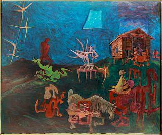 """Raphael Colon Morales """"Retorno la Tierra"""" Acrylic"""