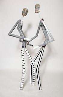 """Robert Cordisco """"Dancers"""" Steel Sculpture"""