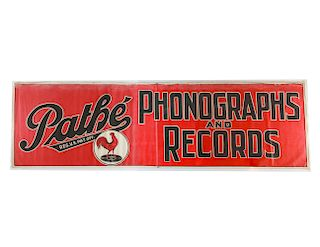 Pathe Phonographs & Records Advertising Banner