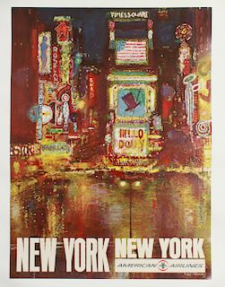 Fred Conway New York American Airlines Poster