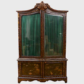 Large Continental Chinoiserie Decorated Wardrobe