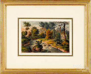 Augustus Kollner, three watercolor views