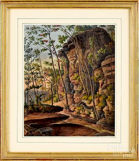 Augustus Kollner, two watercolor views