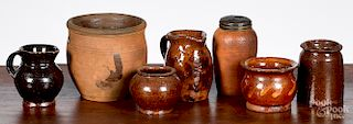 Group of miniature redware