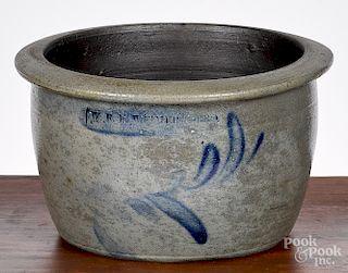 Scarce Pennsylvania stoneware butter crock