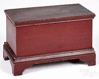 Pennsylvania painted pine miniature blanket chest