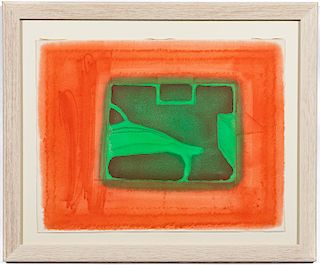 """Howard Hodgkin, """"A Furnished Room"""" 1977 Etching"""