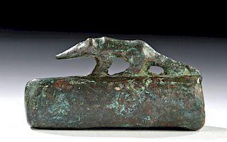 Egyptian Leaded Bronze Sarcophagus w/ Shrew