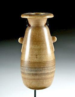 Gorgeous Egyptian Banded Alabaster Alabastron
