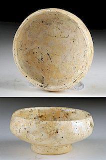 Rare / Delicate Romano-Egyptian Glass Footed Dish