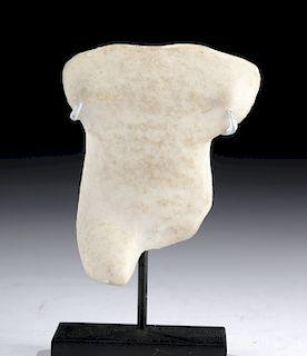 Greek Cycladic Marble Idol Torso - Spedos Variety