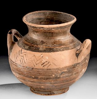 Greek Mycenaean Pottery Jar - Intact!