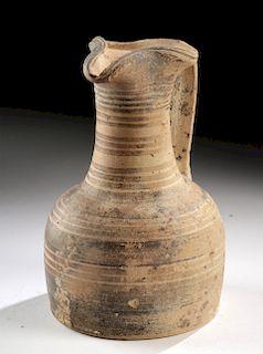 Greek Proto-Geometric Bichrome Trefoil Oinochoe