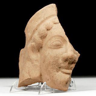 Greek Archaic Pottery Head Protome - Female