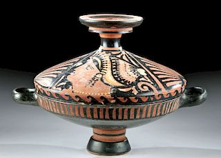 Impressive Greek Pottery Lekanis - Lady of Fashion