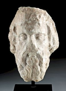 Roman Imperial Marble Head of Serapis
