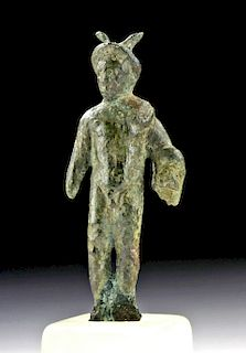 Roman Bronze Figurine of Mars, Messenger of the Gods