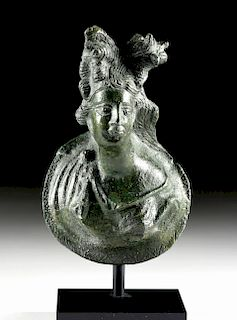 Roman Leaded Bronze Attachment of a Maenad